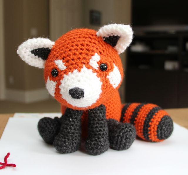 Amigurumi Red Panda : Little Muggles Red Panda