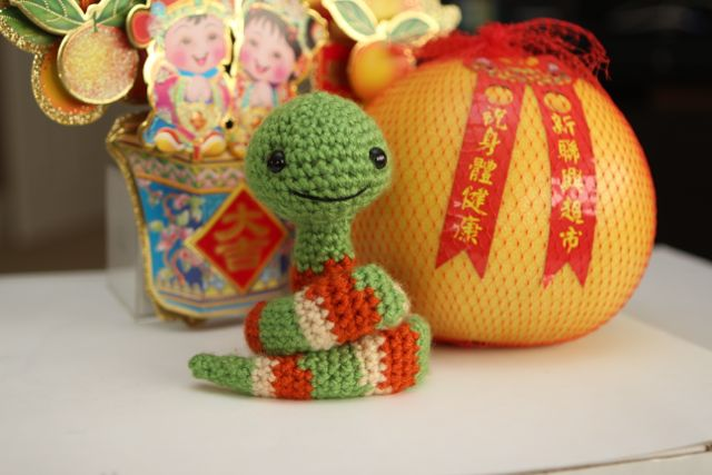 Free Amigurumi Patterns Elephant : Crystal Panda: Year of the Snake Amigurumi and Crafts