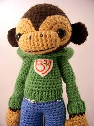 I think this is one of the first Amigurumi creations I ever laid eyes on.   The level of detail and just stunned me and I knew I had to learn how to do this on my own one day!  This monkey is made by Elisabeth Doherty.