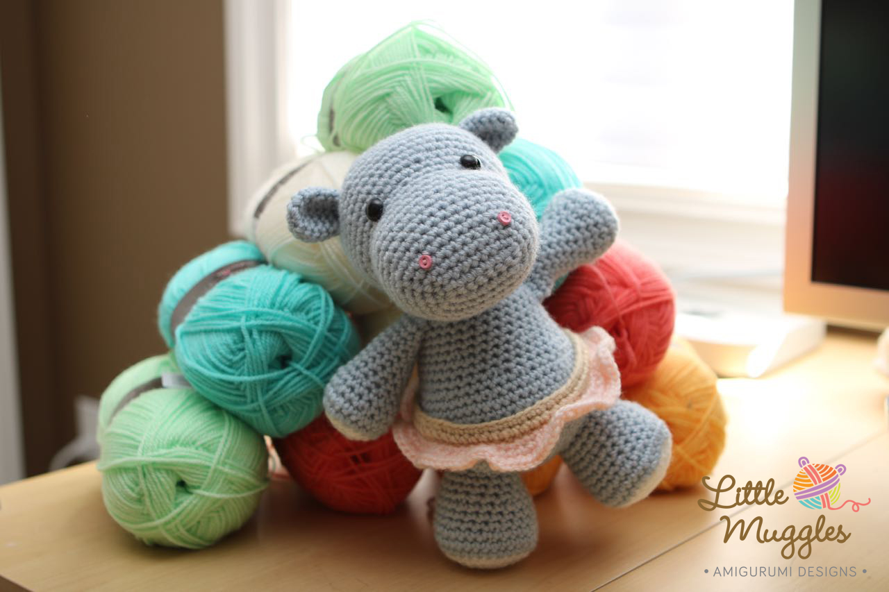 Amigurumi Hippo Pattern Free : Little Muggles Hanna the Hippo wins 2nd place!